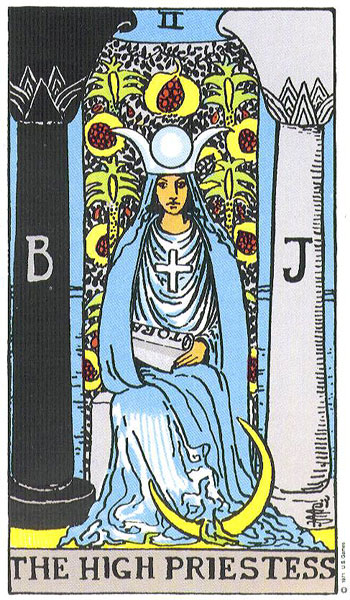 The High Priestess from the Tarot