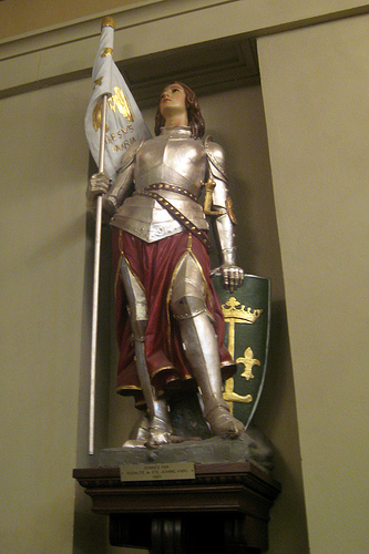 Joan of Arc statue in the St. Louis Cathedral, NOLA