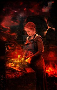 Brigid_of_the_Forge_by_Lindowyn