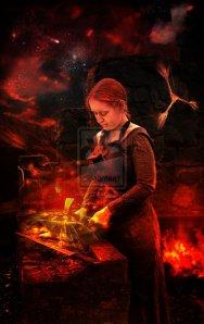 Brigid_of_the_Forge_by_Lindowyn
