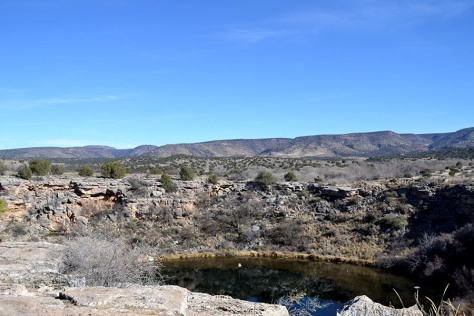 The Sonoran Desert is a bleak place, though also very beautiful. Montezuma's Well is a rarity in the area.