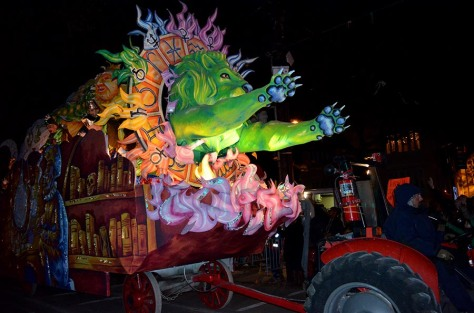 "(This float was titled ""The Great Work"")"