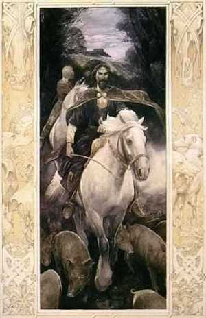 Art by Alan Lee for an illustrated version of the Mabinogion